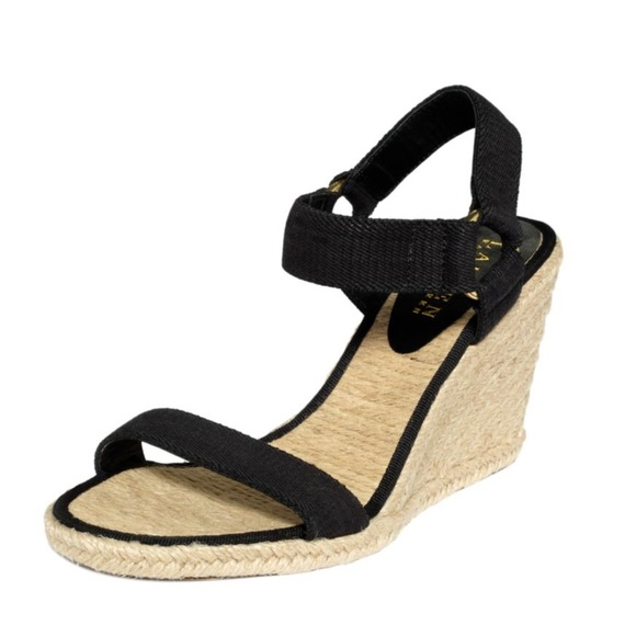 4dc8ea0b3d Lauren Ralph Lauren Shoes   Black Espadrille Wedge Sandals   Poshmark